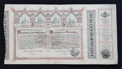Budapest-Lipótváros Bazilika kiépítési sorsjegykölcsön 5 forint 1886