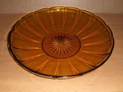 Retro borostyán színű üveg kínáló (afp-50)