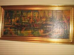 Richard Pusch naplemente a kikötőben