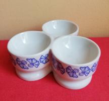 Retro kék virágos Hollóházi porcelán asztalközép fűszertartó