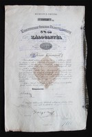 Kisbirtokosok Országos Földhitelintézete 5% záloglevél 2000 korona 1901