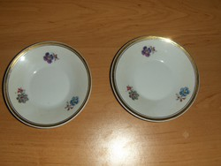 Hollóházi porcelán csészealj alátét 2 db egyben 10,5 cm (s)