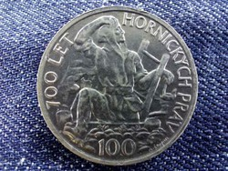 Csehszlovákia A Jihlava Bányászati Jogok 700. évfordulója .500 ezüst 100 Korona 1949 BU/id 9486/