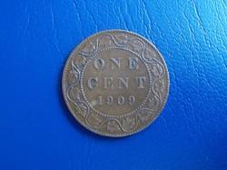 Kanadai 1 cent 1909