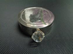 Súlyos fém ékszertartó doboz, tükör betéttel