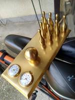 Tömör réz tekekészlet órával,hőmérővel