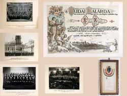 Budai Dalárda Gyűjtemény Oklevél Fotó Római Program Liszt Belgrád Komoróczy László Kodály 1936
