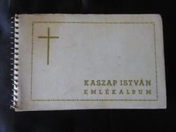 TISZTELETREMÉLTÓ KASZAP ISTVÁN magyar jezsuita novicius EMLÉK ALBUM 1936 SOK FOTÓ -VAL