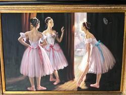 Guan zeju után festmény