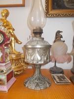 Antik szecessziós nagyméretű petróleum lámpa