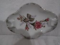 Porcelán - jelzett - kicsi hamutartó - 11 x 8 cm -  régi - hibátlan