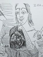 Picasso aláírt számozott litgráfiája!