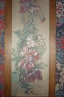 Üvegre festett virágok