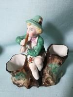 Antik porcelán fűszertartó figura