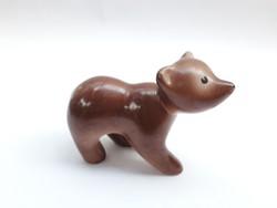Gránit Kispest - cammogó mackó figura - maci, medve retro porcelán