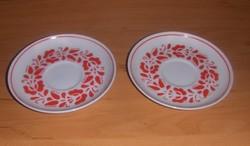Hollóházi porcelán csésze alátét 2 db 11,3 cm (s)