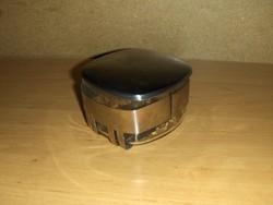 Retro üveg cukortartó fém keretben fém tetővel (19/d)