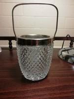 Vastag kristályüveg jégkocka tartó