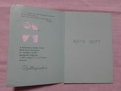 Ballagási meghívó - Kecskemét, 1973-1977 (Kodály Zoltán Ének-Zenei Gimnázium)