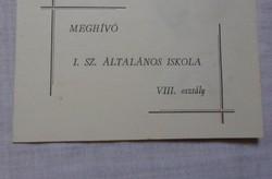 Ballagási meghívó - Kiskunmajsa, 1967 (általános iskola)
