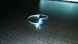 Antik  Kék Köves Ezüst Gyűrű 800-as