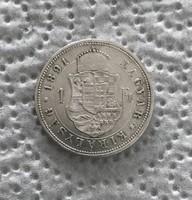 Ferenc József 1891 KB ezüst 1 forint