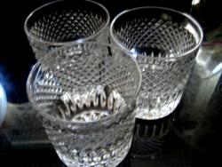 3 db kristály  mécsestartó, kínáló, pohár