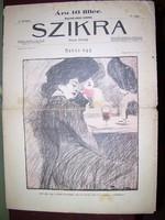 Szikra szecessziós képes hetilap antik judaika is! Földes litho!