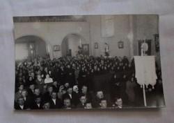 Régi egyházi fotó, Baja - 2. (szentmise, 2 db)