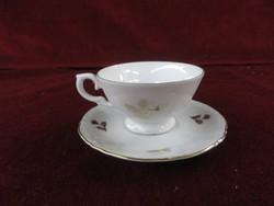 Unger § Schide német porcelán. Kávéscsésze + alátét. Antik.