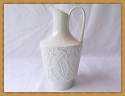 Minőségi hófehér német porcelán Edelstein díszkancsó
