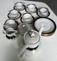 Dúsan aranyozott, gyönyörű formájú Kahla kávés és süteményes készlet a 70-es évekből