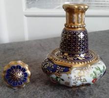 Kék mintás porcelán váza dugóval az 1800-as évek közepéből