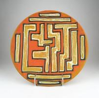 0X353 Retro mázas kerámia falitál 27.5 cm