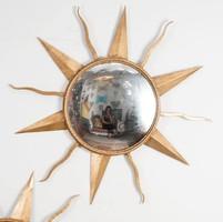 Aranyozott fémkeretes tükör