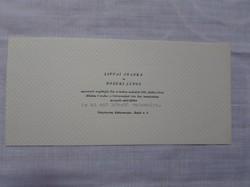 Esküvői meghívó - Kiskunmajsa, 1968