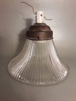 Antik különleges lámpa búra foglalattal