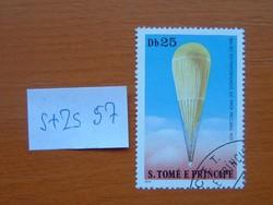S.TOMÉ E PRINCIPE 25 DB 1979 A légi közlekedés története - léggömbök 6,73 $  S+ZS57