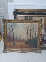 Kálmándy papp lászló erdei tájkép festménye 1939 festmény