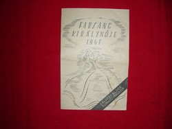 Farsang Királynője 1941