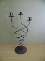 Régi 3 ágú fém gyertyatartó 45 cm magas (10/d)