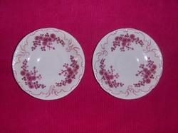 Hollóházi porcelán csészealátét párban 11,5 cm (s)
