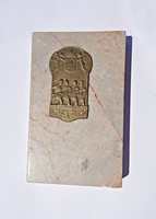 In memoriam 1914-16, márvány talpon réz lapka
