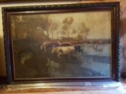 Eredet Juszkó Béla hatamas méretű festmény 100X150cm Plusz keret