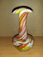 Retro Muránói üveg váza 26 cm (4/d)