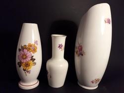 Hollóházi Aquinkumi porcelán váza csomag