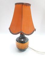 Retro iparművész kerámia lámpa - zsűrizett képcsarnokos dísztárgy