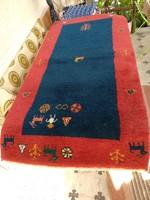Indiai szőnyeg, kézi készítésű vastag  keleti gyapjú szőnyeg 'perzsaszőnyeg'