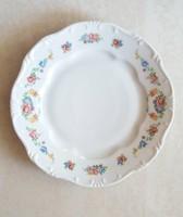 Régi Zsolnay porcelán virágmintás tányér 1 db