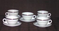 5 db kávés csésze alátéttel